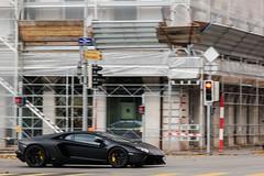 Nero Nemesis. (Lambo8) Tags: italy cars car photography switzerland italia suisse geneva voiture coche future lp posterior ge genve lamborghini nero supercar italie ch nemesis v12 longitudinal hypercar worldcars aventador lp700 lp7004