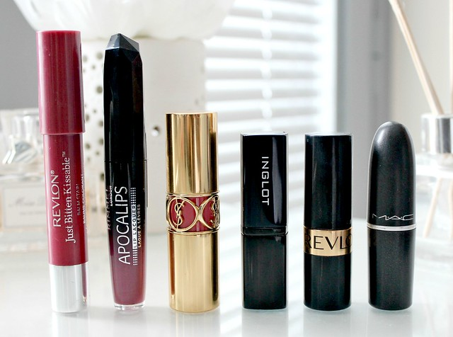 The Winter Berry Lip Line Up, My Favourite Winter Lipsticks, Purple and Berry Lipsticks