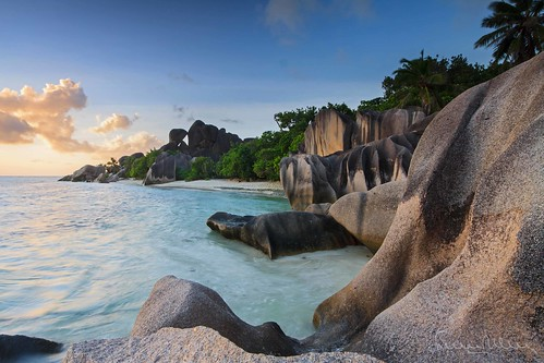 Sunset in Seychelles