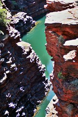 Karijini National Park - Hancock Gorge (zorro1945) Tags: cliff green river landscape oz australia canyon greenriver wa gorge redrock westernaustralia karijininationalpark pilbara hancockgorge