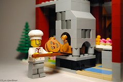 Oops, think he over-did the raising agent! (LynG67) Tags: christmas lego minifigs gingerbreadmen minifigures 2013