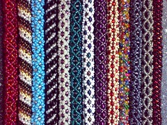 Close up - Tubular beading (LauraLRF) Tags: colors spiral beads colores bracelet russian netting tubular espiral beading loom abalorios pulseras brazalete rusa cuentas mostacillas