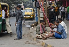 Street - D7K 5594 ep (Eric.Parker) Tags: india money january driver rickshaw kolkata bengal calcutta 2012