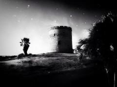 All along the watch tower (4BlueEyes Pete Williamson) Tags: vacation blackandwhite bw tower stars landscape mono ipod cuba monochromatic historic fantasy palmtree veredaro twtme abigfave