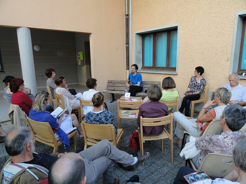 Rencontre avec Jocelyn Bonnerave, bibliothèque de Cusy, 2012 © S. Loux - Fondation Facim, 2012 (8)