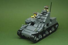 Brickmania M3 Lee tank (1) (Dunechaser) Tags: usa army us tank lego military worldwarii ww2 worldwar2 allied