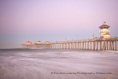 Huntington Beach Pier (RondaKimbrow) Tags: california longexposure morning vacation beach waves pacific coastal southerncalifornia orangecounty rubys californiadreaming huntingtonpier rondakimbrowphotography