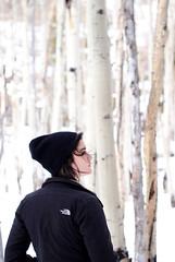 75.365 (MRCDS.potter) Tags: woman mountains girl beautiful female march colorado hiking denver hike photoaday birch 365 rmnp brunette northface estespark estes rockymountainnationalpark birchtrees mountainrange brownhair neff brunettegirl