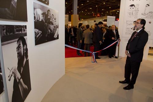 Coscia en la inauguración del Salón del Libro de París 2014