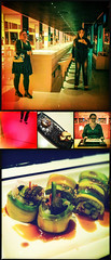 Style at Su (Melissa Maples) Tags: cameraphone food woman selfportrait reflection me apple night turkey sushi square dessert restaurant hotel mirror shoes asia sara highheels trkiye 11 melissa antalya icecream brunette maples iphone  pentaptych iphone4 hipstamatic chestnutsouffl hotelsu