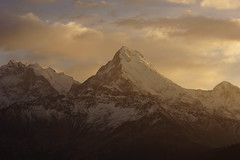 Annapurna (Matteo Vanerio) Tags: travel light sky sun mountain snow mountains clouds sunrise trekking landscape himalaya annapurna 8000m