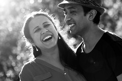 Laughter is the best medicine (Jodie Maria) Tags: portrait white black lens happy couple together flare laughter
