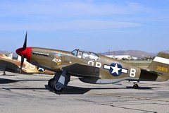 P-51B Mustang (Stephen S...) Tags: world 2 vintage airplane war aircraft aviation historic airshow ww2 mustang warbirds chino p51