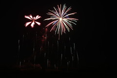 Starbursts (Ryan Ojibway) Tags: wisconsin fireworks fourthofjuly fortatkinson 4thofjuly independenceday wi 2015 jeffersoncounty festivalfoods