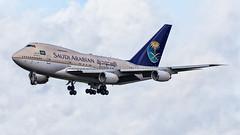 Saudi Arabian Airlines (Dubspotter2015) Tags: boeing 747 sp saudi arabian airlines b747sp baby jumbo beautiful skies sky clouds aviation shannon einn snn ireland canon 6d hzhm1c