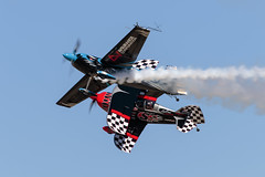 Pitts S2C & Edge 540 (Trent Bell) Tags: lancaster foxairfield airport losangelescounty airshow 2016 california skipstewart pitts s2c prometheus edge540 melissaandrzejewski n540sg zivko melissapemberton aircraft