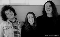 IMG_2312 Quick (marinbiker 1961) Tags: quick willem emily alex qmu glasgow livemusic 2017 bw people indoors groupshot monochrome