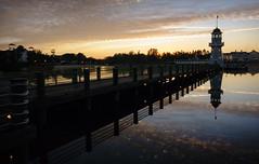 Sunrise Run (Scott Smith (SRisonS)) Tags: 10k 2017 beachclub crescentlake disneysboardwalk lakebuenavista marathonweekend resort rundisney yachtclub florida lighthouse sunrise waltdisneyworld wdw