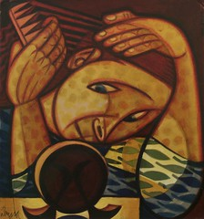 Untitled (Undated) - José de Almada Negreiros (1893-1970) (pedrosimoes7) Tags: josédealmadanegreiros caloustegulbenkianmuseum moderncollection lisbon portugal museu musée museum creativecommons cc artgalleryandmuseums ✩ecoledesbeauxarts✩