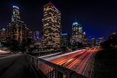 DTLA (mcalma68) Tags: losangeles down town architecture cityscape street night buildings offices traffic lighttrails bridge us