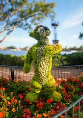 Epcot - T-I-double-guh-ER! (Jeff Krause Photography) Tags: disney epcot festival flower food garden park pooh showcase tiger topary topiaries wdw winnie world theme bokeh bokehpano pano panorama