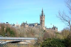 Glasgow University with Partick Bridge (Wider World) Tags: scotland glasgow partick university georgegilbertscott spire tower johnoldridscott