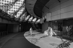 What lurks in the concrete jungle? (jonron239) Tags: london waterloo cinema roundabout bfi imax concrete man sunshine shadows
