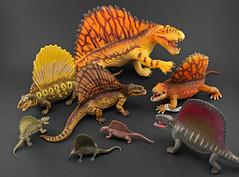 Dimetrodon Comparison ( Group Shot ) (RobinGoodfellow_(m)) Tags: recur dimetrodon group shot comparison carnegie safari papo schleich kaiyodo linde invicta favorite