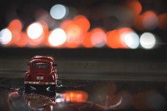Night lights (svg74) Tags: vw volkswagen toy car light lights bokeh dof