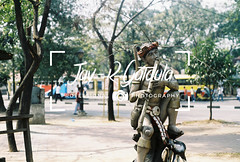 Northern Forefathers (Jay-R Gatdula (CA2B)) Tags: urban street manila sunny trees tropical statue indigenous ifugao deer flute tribe native northern philippines filipino