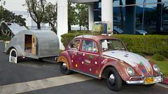 Hippie RV (Pat Durkin OC) Tags: volkswagen beatle miniatureteardroptrailer