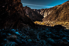 Tahquitz Canyon (PJ Resnick) Tags: palmsprings20162017 perryjresnick tahquitzcanyon pjresnickgmailcom pjresnickphotographygmailcom ©2017pjresnick ©pjresnick 16mm xf16mmf14r nature pjresnick light fuji fujifilm digital shadow texture shadows yellow angle perspective naturallight white xf fujinon resnick plant outdoor green brown orange rectangle rectangular color colour landscape canyon rock sky clouds blue xpro2 fujifilmxpro2 fujinonxf16mmf14r desert ca rockformation sand desertcolors red 4x6 classicchrome fujifilmclassicchrome