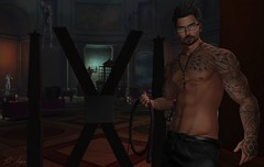 Now Come Here  . . . (Broderick Logan) Tags: second life secondlife sl avatar virtual photography bdsm whip tattoo shirtless ds seven mom menonlymonthly facade codex xxy