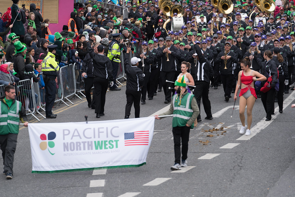 Pacific Northwest Intercollegiate Marching Band [St. Patricks Day Parade In Dublin 2017]-125715