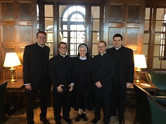 Erie seminarians at St. Mary's Seminary (Baltimore), with guest Sr. Mary Andrew Himes, RSM, on the occasion of Kevin Holland's (far left) Installation as Reader - March 22, 2017