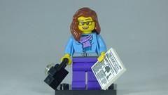 Brick Yourself Custom Lego Figure Sweet Reporter