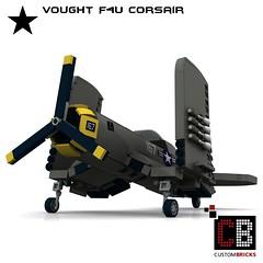LEGO_Custom_WW2_Warplane_Vought_F4U_CB00 (LA-Design2012) Tags: lego custom moc ww2 wwii wk2 flugzeug plane kriegsflugzeug warplane vought f4u corsair bauanleitung instruction custombricks