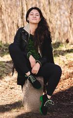 Adriana (creyala) Tags: friend colors walk shoes nikond7000 d7000 nikon portrait silhouette spring nice lightroom