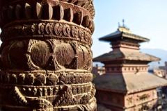 (Rodrigo LR) Tags: nepal bhaktapur temple pillar detail design pagoda asia kathmandu wood