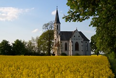 White church in yellow field 2 (Michael Tracy's photos) Tags: poland nyas