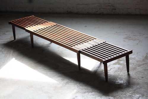 Dashing Mid Century Modern Expandable Slat Bench Coffee Table (U.S.A. 1950s)