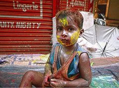 Holy Kid (@rvindiyer) Tags: colors kid chennai holi sowcarpet chennaiweekendclickers