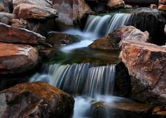 Water Fall - Myriad Gardens (zendt66) Tags: zendt66 nikon d90 weekly assignment challenge longexposure long exposure oklahomacity oklahoma dark night photography nightphotography nikkor 18105 zoom