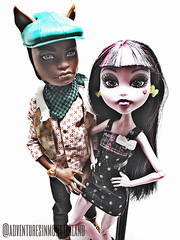 D and Clawd 1 (ALozaMH) Tags: monsterhigh draculaura clawdwolf