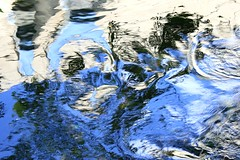 What lies beneath (2) (Katherine Burg) Tags: abstract water monster reflections river drowning whatliesbeneath