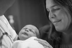 Pure Love (Marek Stanjo) Tags: baby love sepia canon happy blackwhite mother newborn 18 50ml