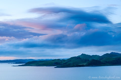 Crinan dusk (LizzieShepherd) Tags: sunset sea clouds islands scotland dusk argyll jura crinan
