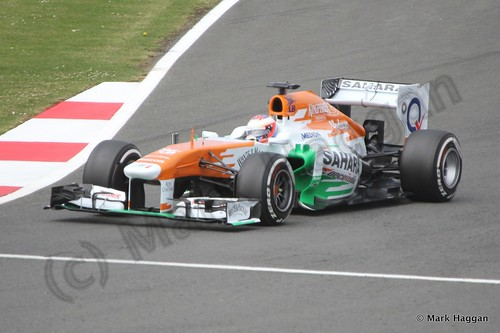 Paul Di Resta in Qualifying for the 2013 British Grand Prix