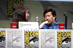 Alison Brie & Ken Jeong (Gage Skidmore) Tags: california brown dan nicole community san comic ken diego jim center international convention danny jacobs gillian yvette brie alison con rash harmon mckenna chri jeong pudi 2013