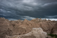 Bad Land, Bad Weather (@Michael) Tags: travel storm nature southdakota day cloudy gear places fujifilm badlands x100